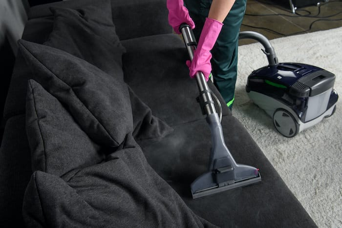 Cleaning a couch